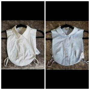 COS Brand Blue and White  Crop top Shirt
